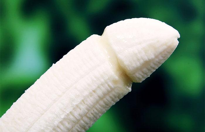 男性器の形をしたバナナ